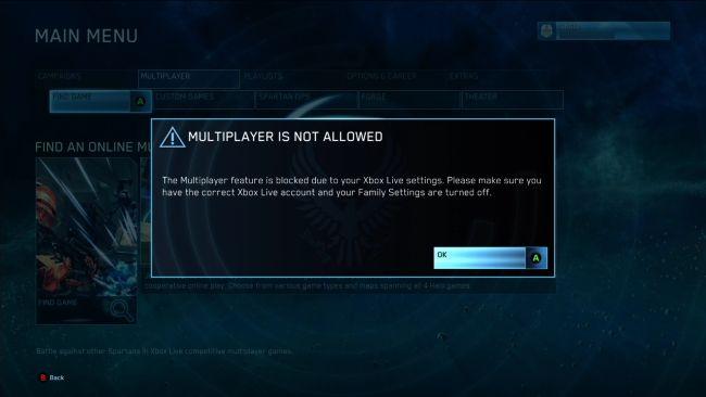 Trường hợp bạn truy cập hệ thống này mà chưa có Xbox live gold. Bạn sẽ bị  kẹt lại với 1 thông báo yêu cầu đăng kí gói GOLD member.