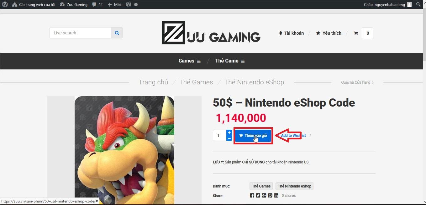 Mua Nintendo Eshop uy tín, nhanh chóng | Zuu vn