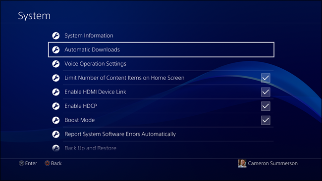 PlayStation 4 Automatic Download