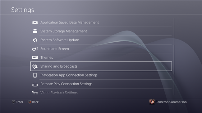 PlayStation 4 Sharing and Broadcast