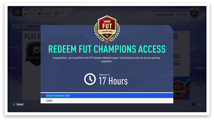 FUT champion-fifa 19