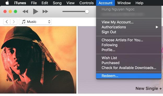 Nạp iTunes Gift Card trên Mac/PC