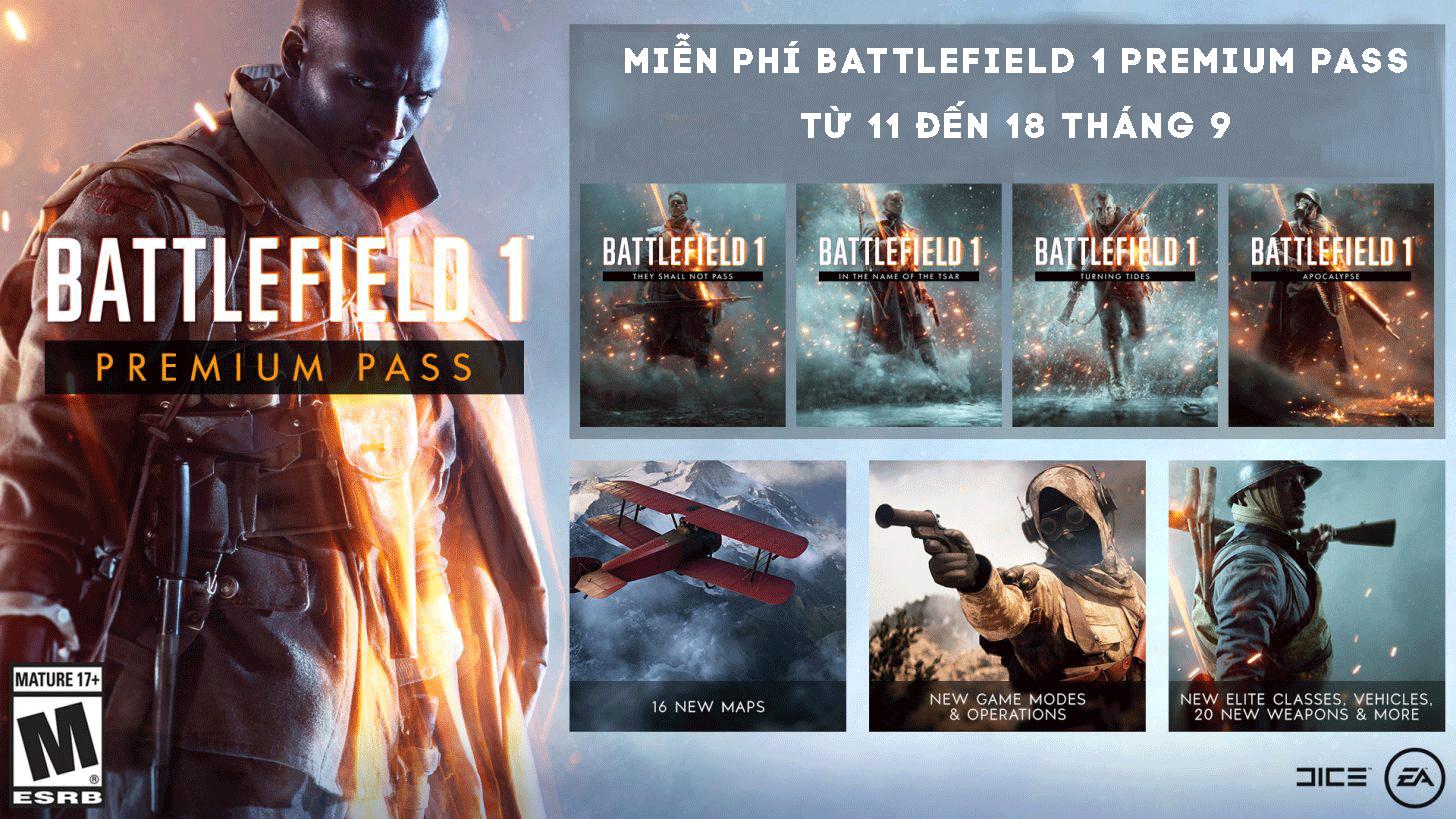 Battlefield 1 Premium Pass có gì
