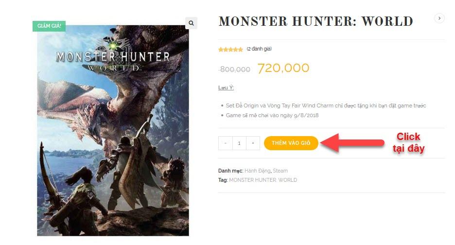 mua monster hunter world