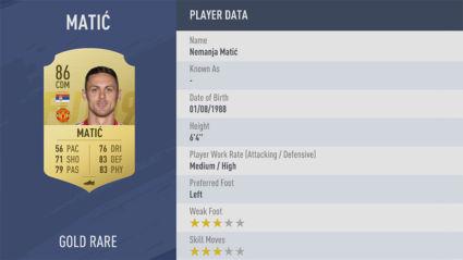 cầu thủ Nemanja-Matić FIFA 19