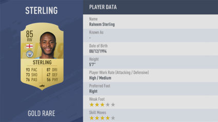 chỉ số Raheem-Sterling fifa 19