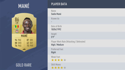 chi so Sadio-Mané-fifa 19