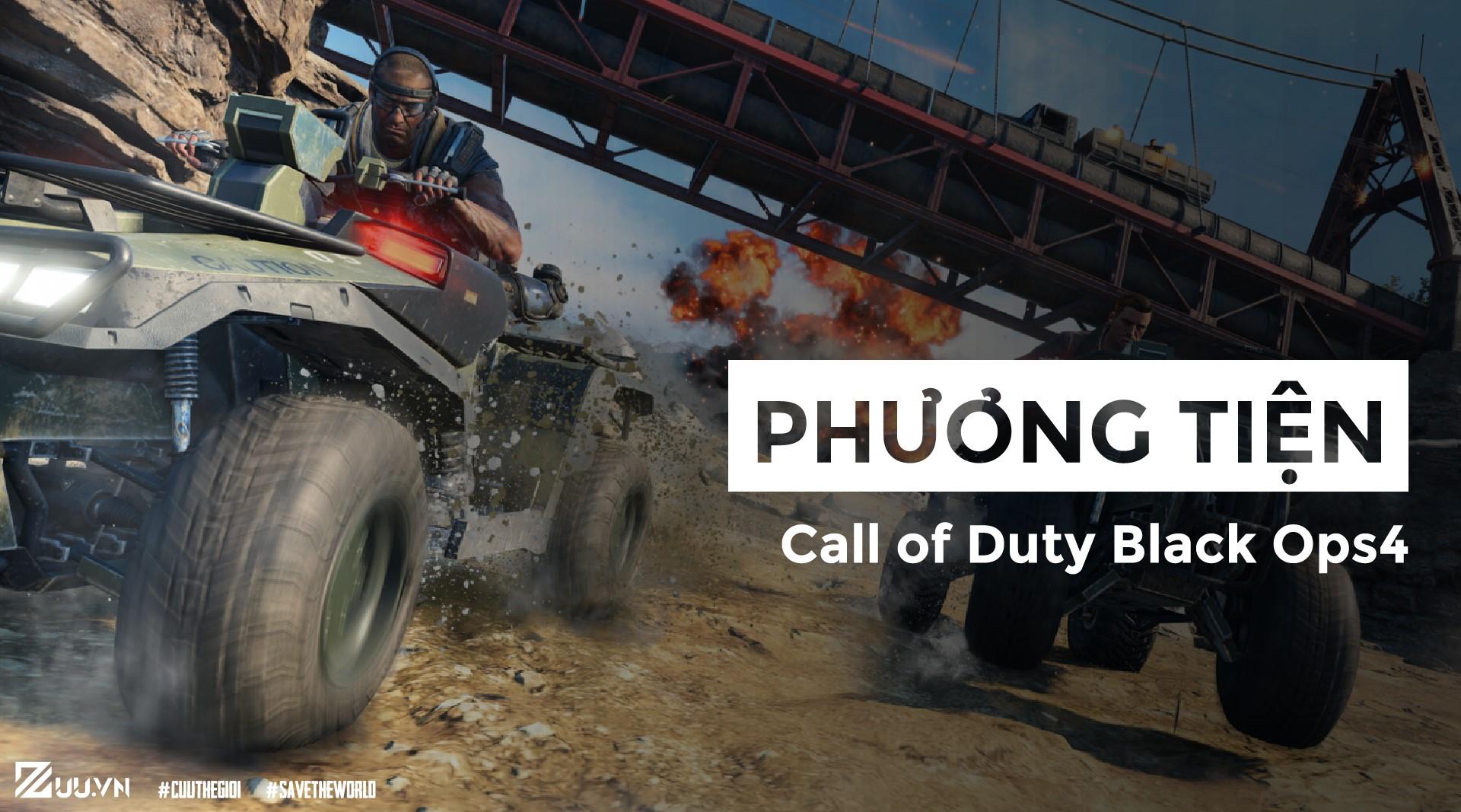 Call of Duty Black Ops 4: Các loại phương tiện