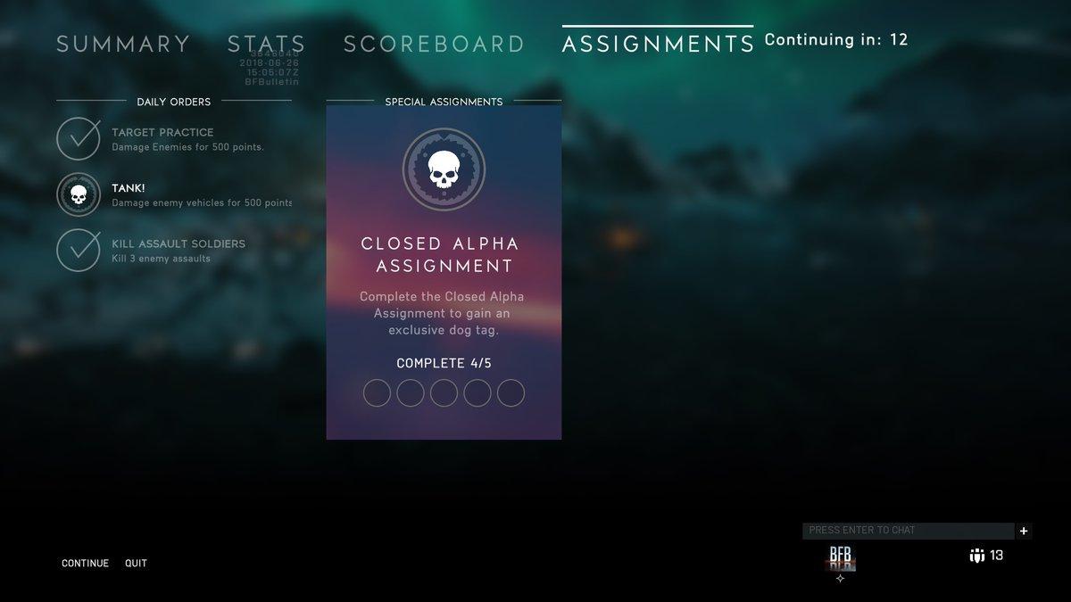 assignment trong battlefield v