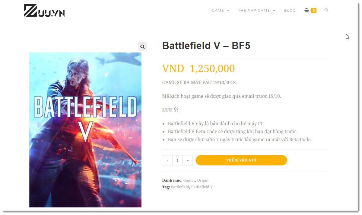 mua battlefield 5 giá rẻ nhất