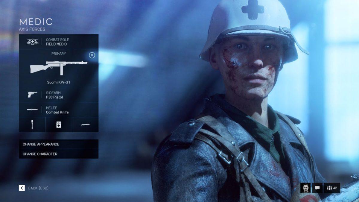medic trong game battlefield 5