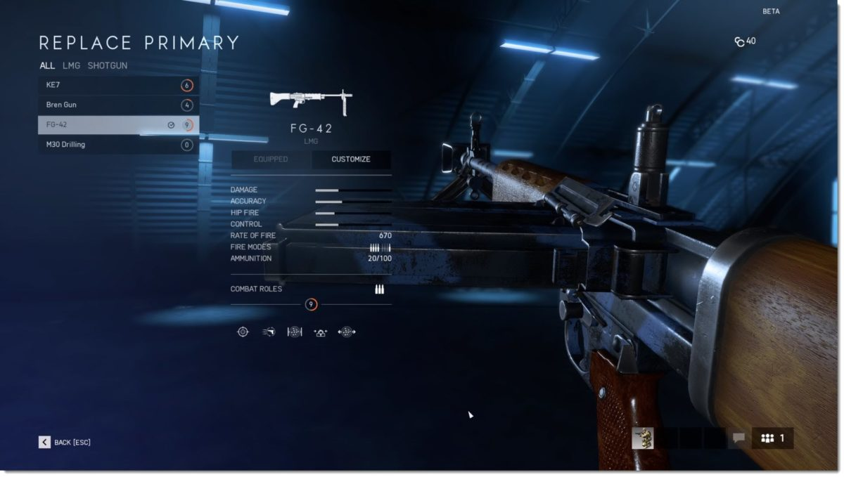 súng của support trong battlefield 5