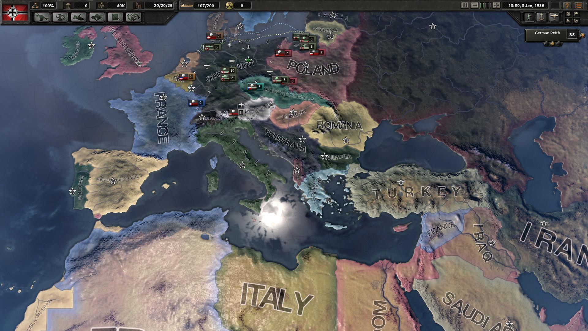 Hearts of Iron IV tựa game thuộc thể loại chiến lược thời gian thực lấy bối cảnh chiến tranh thế giới thứ hai kéo dài từ 1936-1948