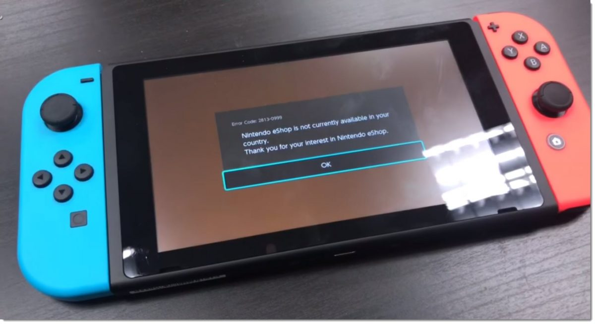 Sửa lỗi Nintendo eshop not available in your country máy Switch