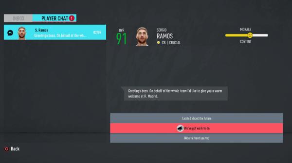 Managing Morale FIFA 20